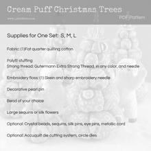 Cream Puff Christmas Trees Pattern- Instant Download