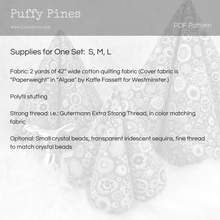Puffy Pines Tabletop Christmas Trees Pattern- Instant Download