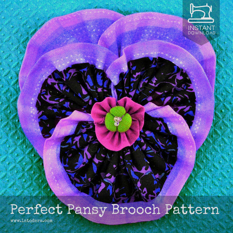 Perfect Pansy Brooch Pattern- Instant Download