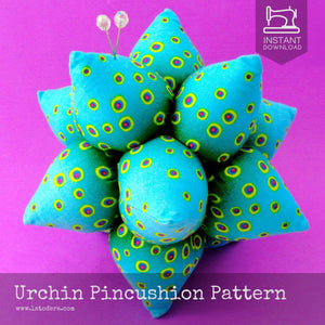 Urchin Fabric Pincushion Pattern- Instant Download - La Todera