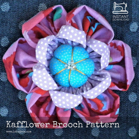 Kafflower! Brooch Pattern- Instant Download