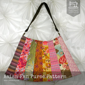 Asian Fan Purse quilted handbag pattern by La Todera