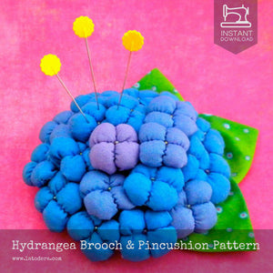 Hydrangea Brooches Pattern- Instant Download - La Todera