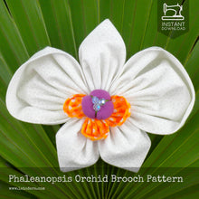 DIY Fabric Flower Phalaenopsis Orchid Brooch Tutorial - PDF Sewing Pattern - La Todera