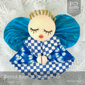 DIY Fabric Angel Christmas Ornaments Tutorial - PDF Sewing Pattern - La Todera