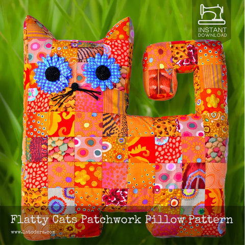 Flatty Cats (Mama and Baby) Pattern- Instant Download