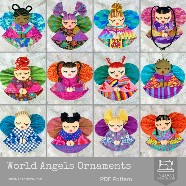 Christmas Ornament Angels From Office Supplies: DIY Fabric Angel Christmas Ornaments Tutorial