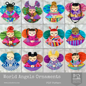 Fabric Angel Christmas Ornament Tutorial La Todera