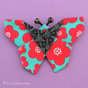 DIY Fabric Origami Butterfly Brooch Tutorial - PDF Sewing Pattern - La Todera