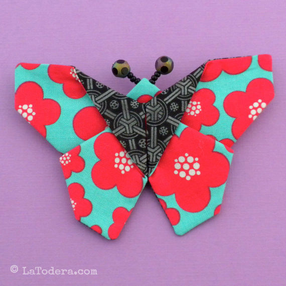 Fabric Butterfly Brooches Pattern- Instant Download - La Todera