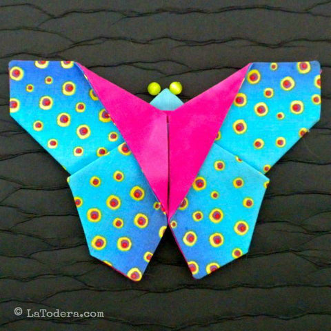 Fabric Butterfly Brooches PDF Pattern - La Todera