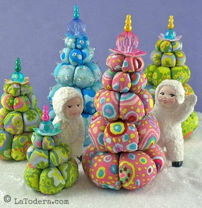 Cream Puff Christmas Trees PDF Pattern - La Todera