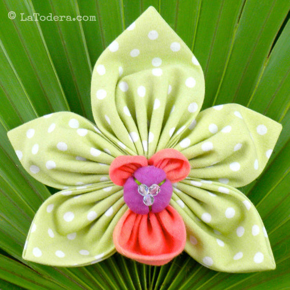 Cymbidium Orchid Brooch- Instant Download - La Todera