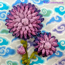 DIY Fabric Flower Dahlia Brooch Tutorial - PDF Sewing Pattern - La Todera
