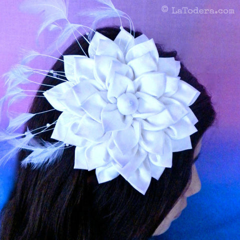 Kanzashi Flower Fascinator PDF Pattern - La Todera