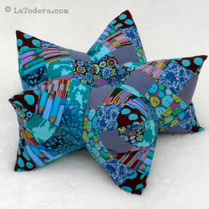 DIY Patchwork Star Pillow and Pincushion Tutorial - PDF Sewing Pattern - La Todera