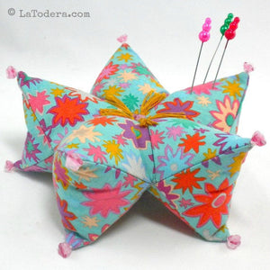Harlequin Star Pillow (and Pincushion) Pattern- Instant Download - La Todera