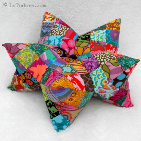 Harlequin Star Pillow (and Pincushion) PDF Pattern - La Todera