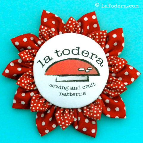 Kanzashi Flower Badges PDF Pattern - La Todera