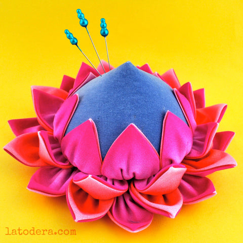 Protea fabric flower Pincushion