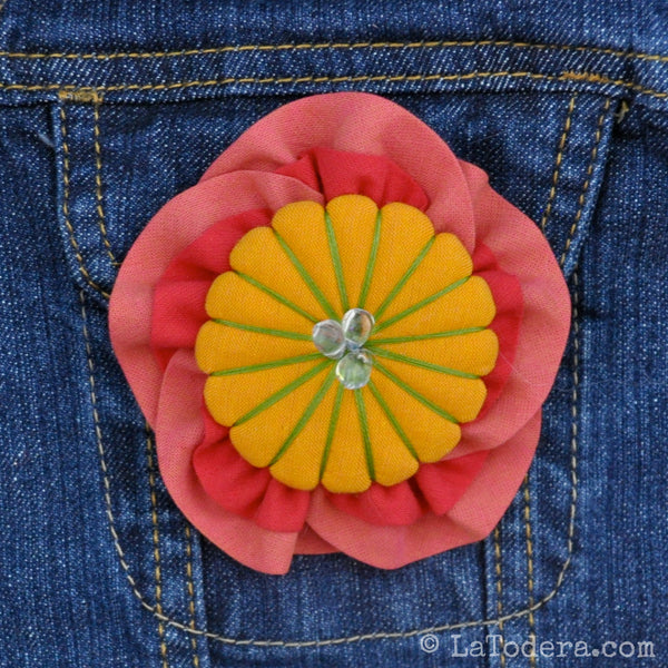 Momo Flower Brooches Pattern- Instant Download - La Todera