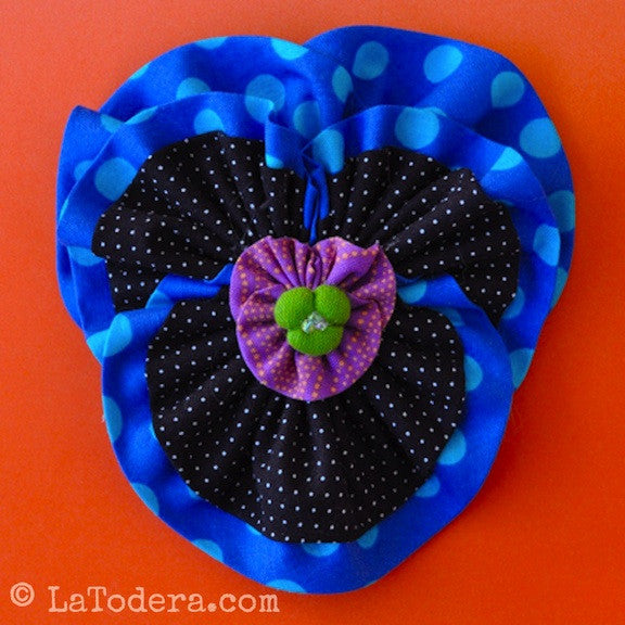 Perfect Pansy Brooch Pattern- Instant Download - La Todera