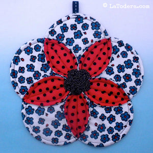 Plumeria Potholder Pattern- Instant Download - La Todera