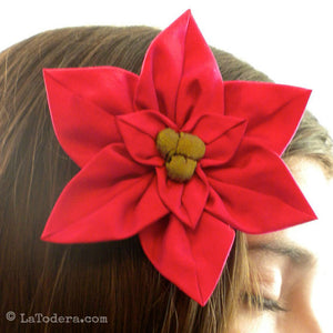 Poinsettia Brooches Pattern- Instant Download - La Todera