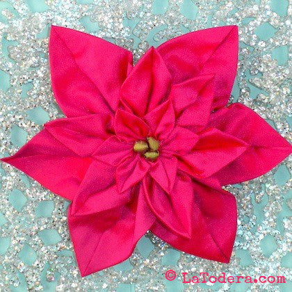 Poinsettia Brooches PDF Pattern - La Todera