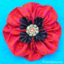 Proud Poppy Brooch Pattern- Instant Download - La Todera