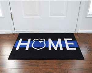 Thin Blue Line Door Mat
