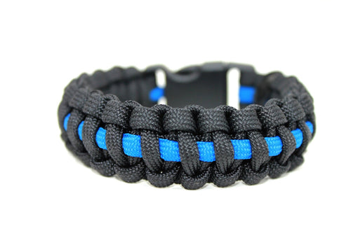 Thin Blue Line Survival Bracelet