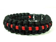 Load image into Gallery viewer, THIN RED LINE SURVIVAL BRACELET