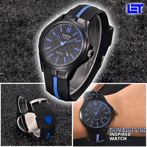 Thin Blue Line Inspired Watch