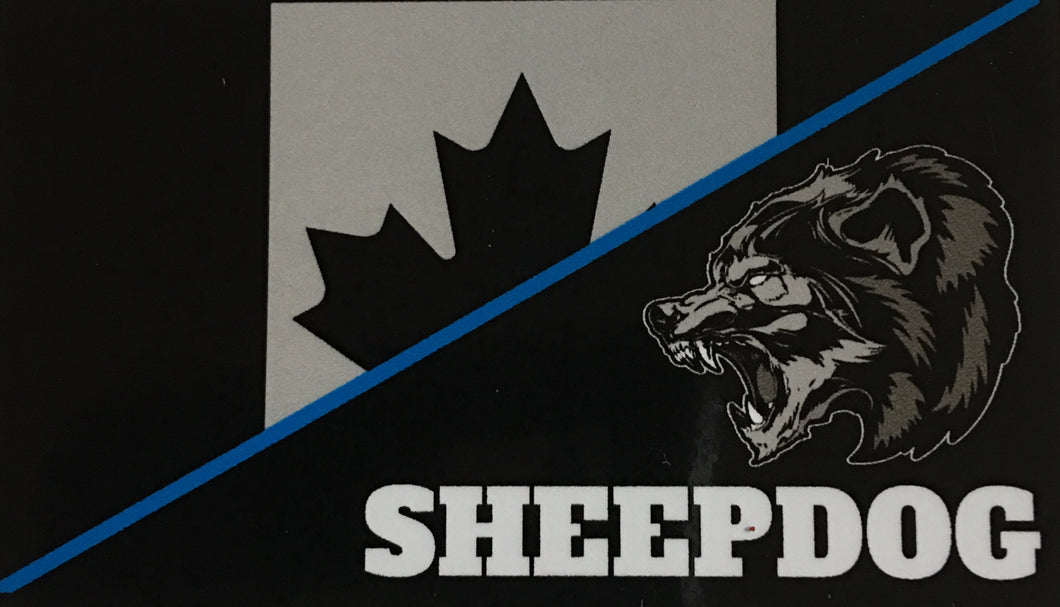 Canada Subdued Flag Sheepdog Thin Blue Line Canadian Police Sticker Decal