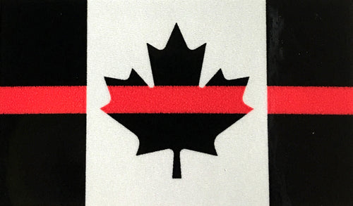 THIN RED LINE SUBDUED CANADA FLAG DECAL 2