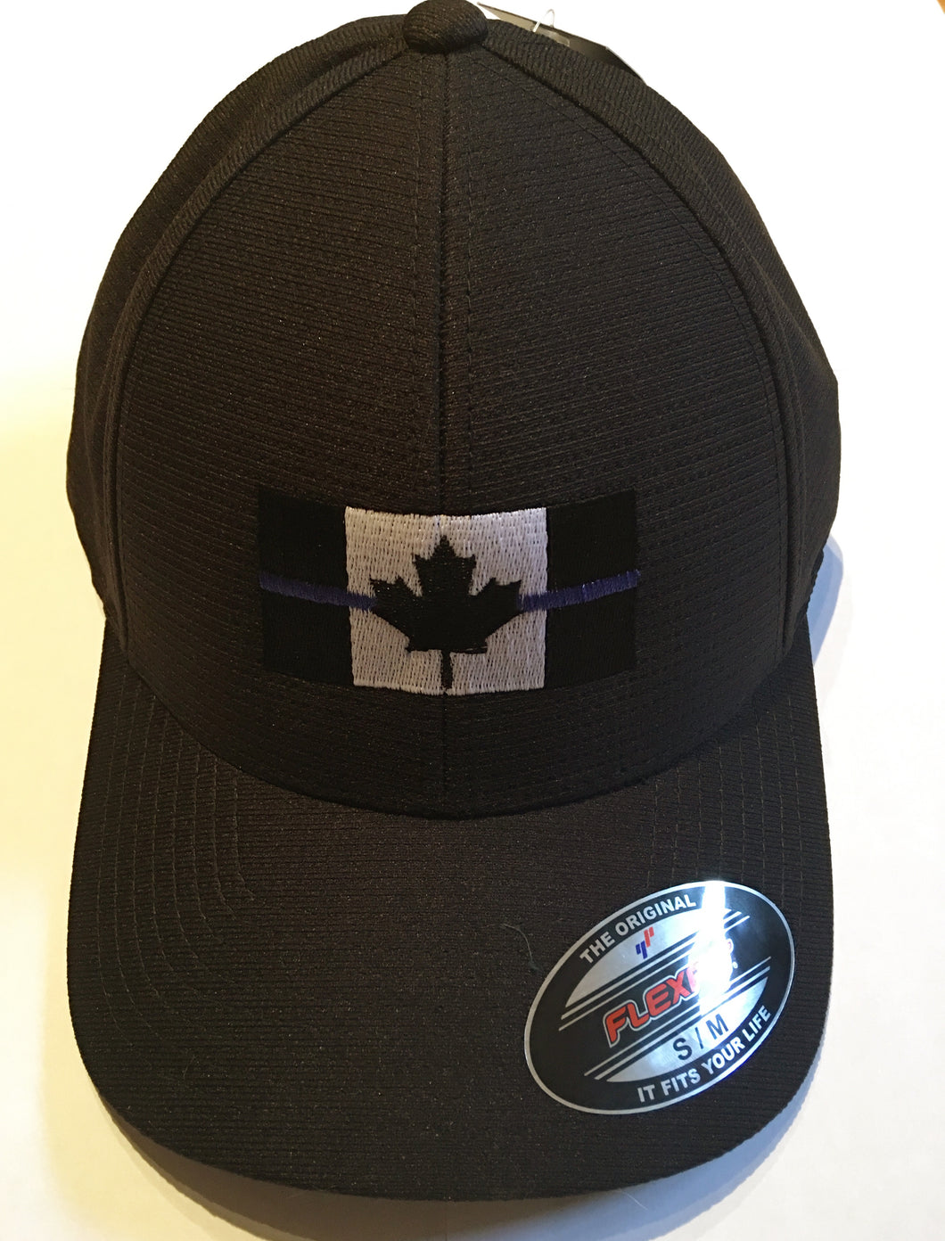 Thin Blue Line Canadian Flag Fitted Cap