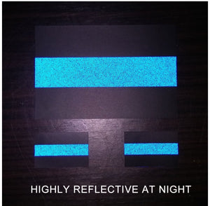 "Reflective Police Thin Blue Line Bumper Decals (4"" x 2.6"")"