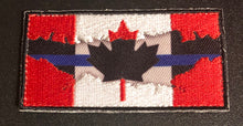 Load image into Gallery viewer, Thin Blue Line Canada 🇨🇦 Red / Blue Line Flag 7.5 cm x 4 cm