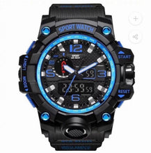 Load image into Gallery viewer, Thin Blue Line Inspired S Shock Watch
