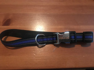 Thin Blue Line Canada Leash and Collar Set
