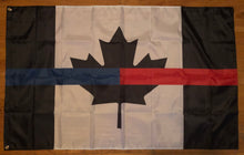 Load image into Gallery viewer, Full Size 5' x 3 ' Joint Thin Blue Line / Thin Red Line Canadian Flag