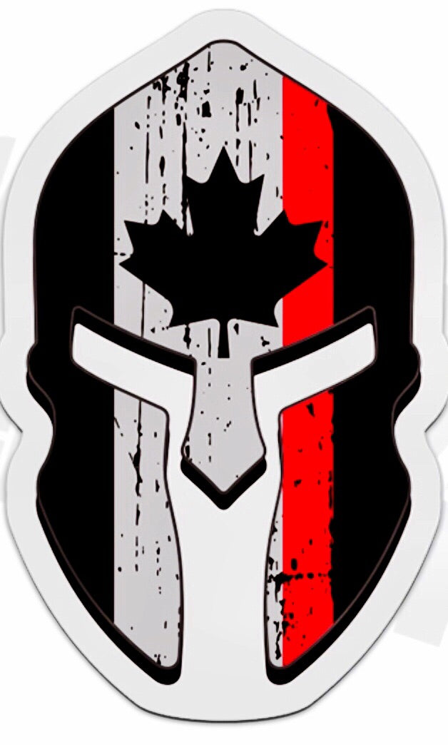 Thin Red Line Canada Firefighter Spartan Decal / Sticker