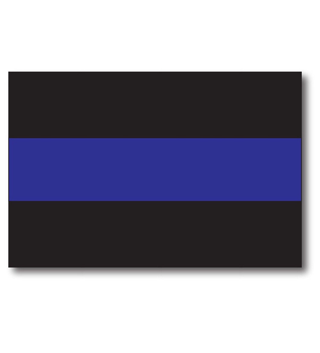 Thin Blue Line Magnet Decal - Heavy Duty for Car Truck SUV 4 - In Support of Police and Law Enforcement Officers