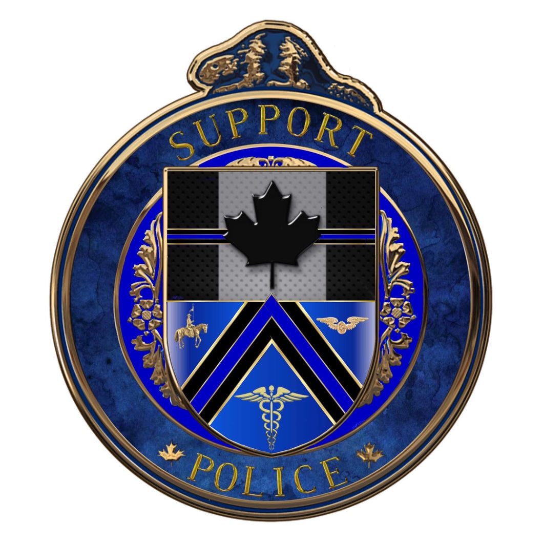 The Thin Blue Line Canada Support Police Challenge Coin