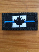 Load image into Gallery viewer, Double Sided Thin Blue Line Canadian Flag / Canadian Flag Patch (2 versions)