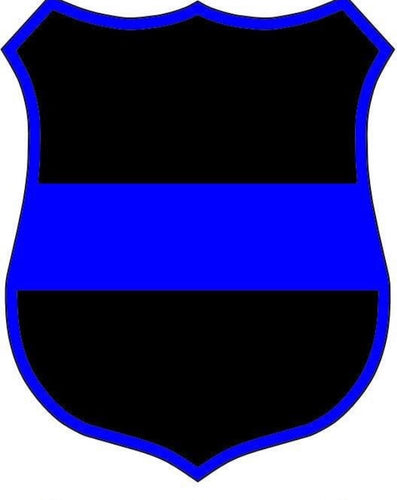 Reflective Thin Blue Line Badge Window Decal