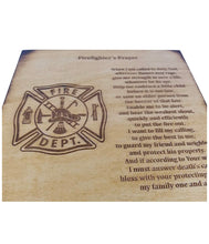 Load image into Gallery viewer, Firefighter Prayer Keepsake Box