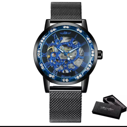 T Winner Thin Blue Line Inspired Women's Skeleton / Mechanical Watch (FREE Shipping)