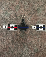 Load image into Gallery viewer, Thin Blue Line Canada Flag Keychain